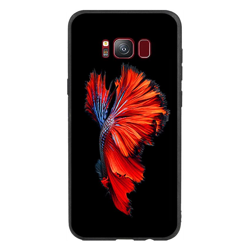 Ốp lưng nhựa cứng viền dẻo TPU Cho Điện Thoại Samsung Galaxy S8 - Fish 01