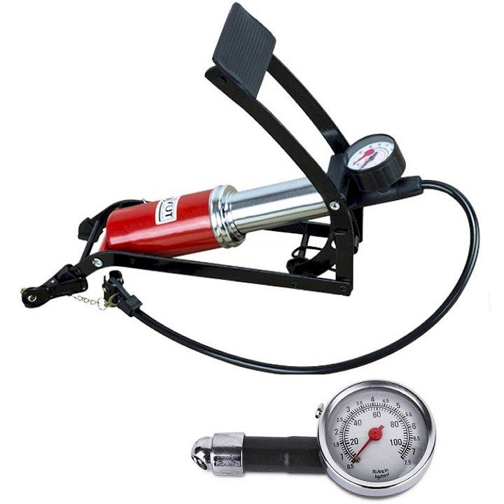 Combo Bơm hơi đạp chân 1 Pitton kèm Đồng hồ đo áp suất lốp xe cơ chuyên dụng cho ô tô xe máy - 1167722 , 4559133220428 , 62_8071710 , 300000 , Combo-Bom-hoi-dap-chan-1-Pitton-kem-Dong-ho-do-ap-suat-lop-xe-co-chuyen-dung-cho-o-to-xe-may-62_8071710 , tiki.vn , Combo Bơm hơi đạp chân 1 Pitton kèm Đồng hồ đo áp suất lốp xe cơ chuyên dụng cho ô tô