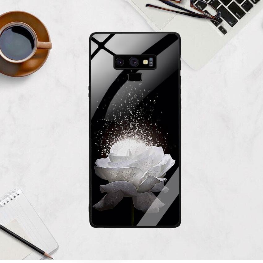 Ốp Lưng Kính Cường Lực cho điện thoại Samsung Galaxy Note 9 -  0324 ROSE03
