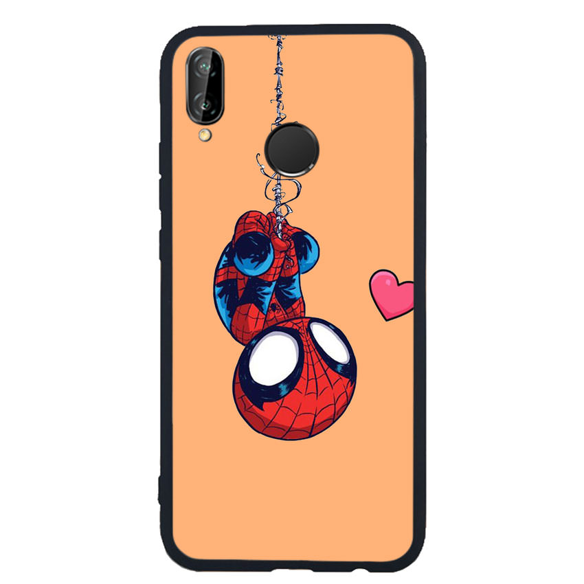 Ốp Lưng Viền TPU cho điện thoại Huawei Nova 3e - Spiderman 02