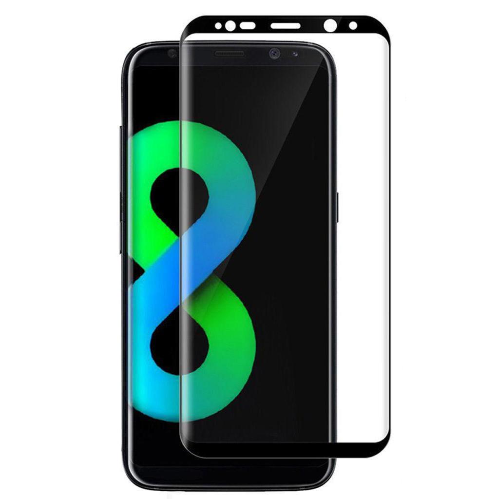 Kính Cường Lực 3D Cong Bảo Vệ Toàn Màn Hình Cho Samsung Galaxy S8 S8 Plus - Đen