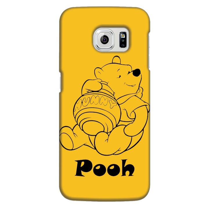 Ốp lưng nhựa cứng nhám dành cho Samsung Galaxy S6 Edge in hình Pooh