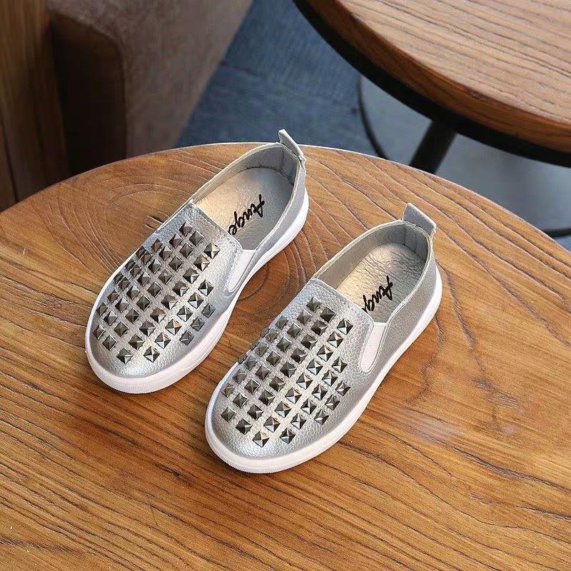Giày Lười Trẻ Em 1 - 12 Tuổi Thiết Kế Tán Đinh Nổi Bật G14