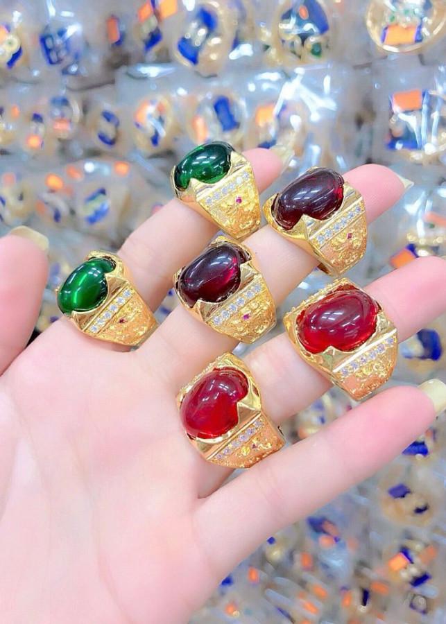 Nhẫn nam phong thủy đá đủ màu mạ vàng 24k - 1472028 , 4780033703258 , 62_14702370 , 239000 , Nhan-nam-phong-thuy-da-du-mau-ma-vang-24k-62_14702370 , tiki.vn , Nhẫn nam phong thủy đá đủ màu mạ vàng 24k