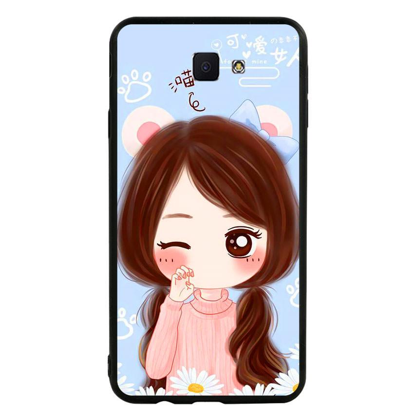 Ốp lưng nhựa cứng viền dẻo TPU cho điện thoại Samsung Galaxy J7 Prime -Baby Girl