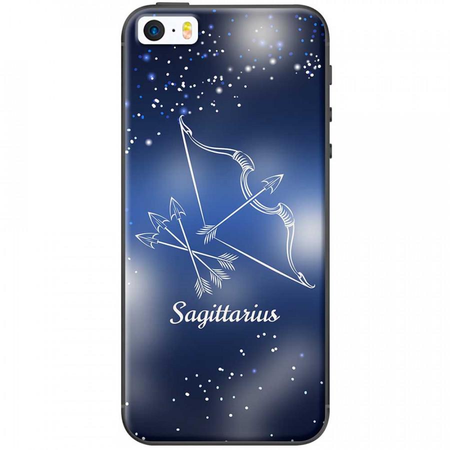 Ốp lưng  dành cho iPhone 5, iPhone 5s mẫu Cung hoàng đạo Sagittarius (xanh)