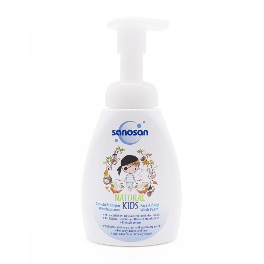 Sữa tắm và rửa mặt tạo bọt Olive dưỡng ẩm hương Dừa Sanosan 250ml