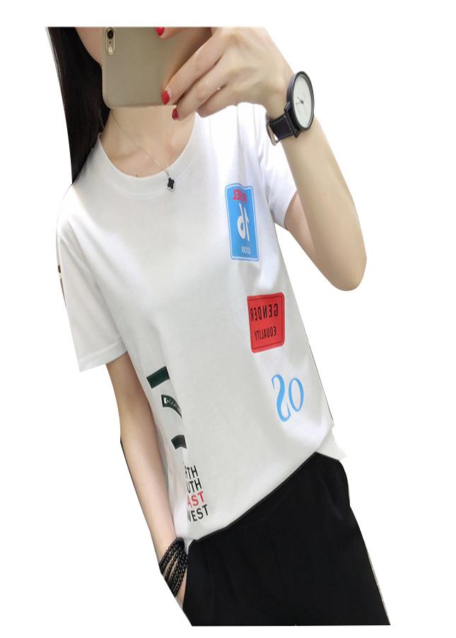 Áo thun nữ gender màu trắng d630 thương hiệu Td