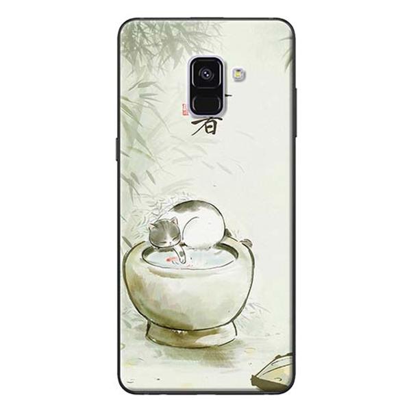 Ốp Lưng Dành Cho Samsung A8 Plus - Mẫu Mèo Và Lu Nước