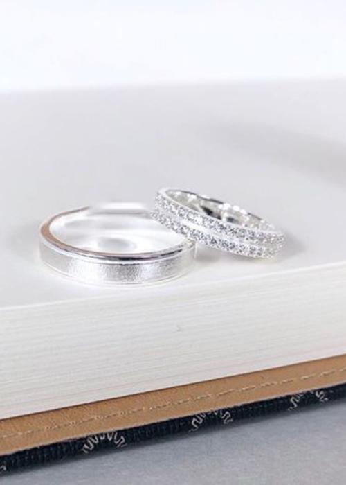 Nhẫn đôi bạc cao cấp N1285