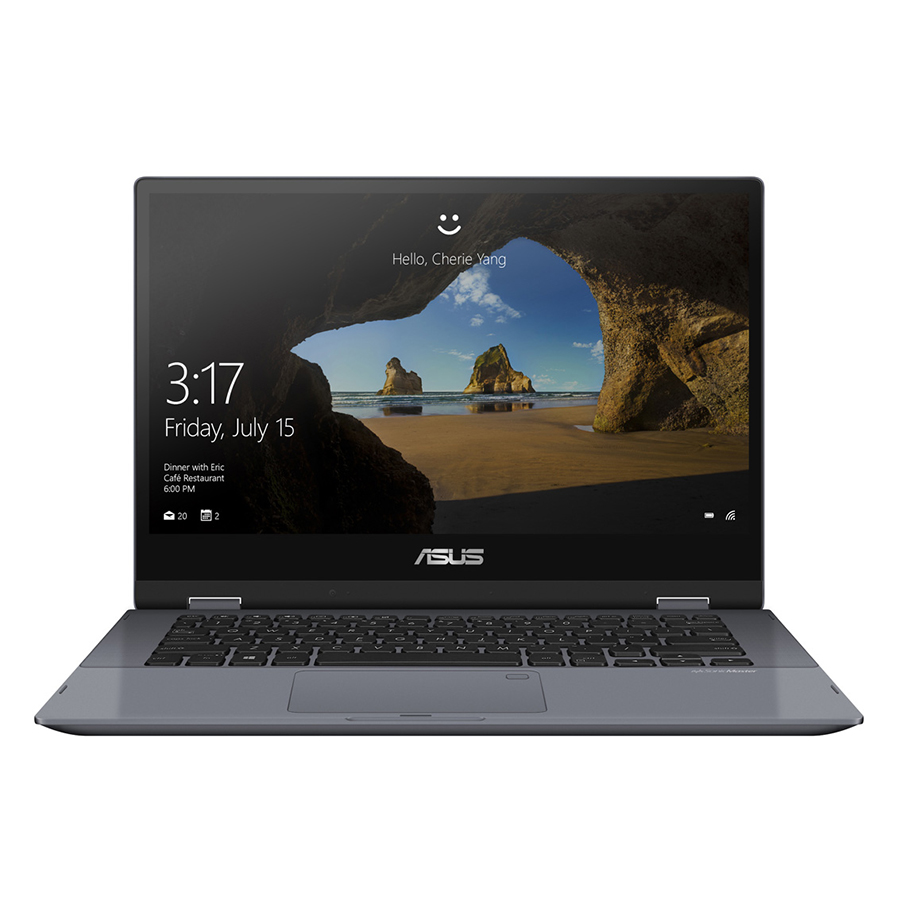 Laptop Asus Vivobook Flip 14 TP412UA-EC092T Core i3-7020U/Win10 (14 inch) (Grey) - Hàng Chính Hãng