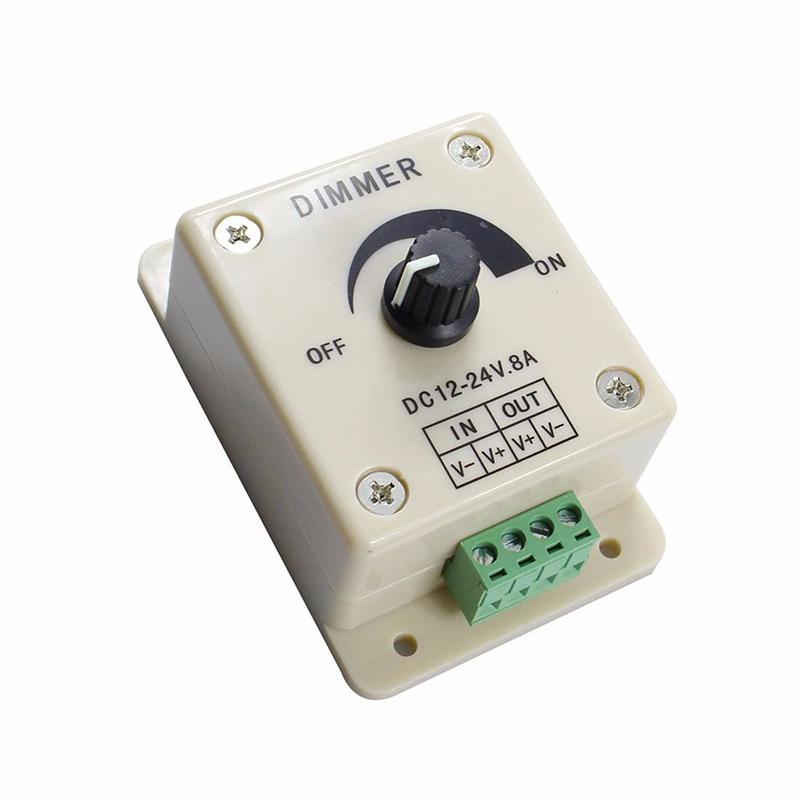 12V 8A LED Strip Light Switch Dimmer Brightness Lighting Controller Manual Home