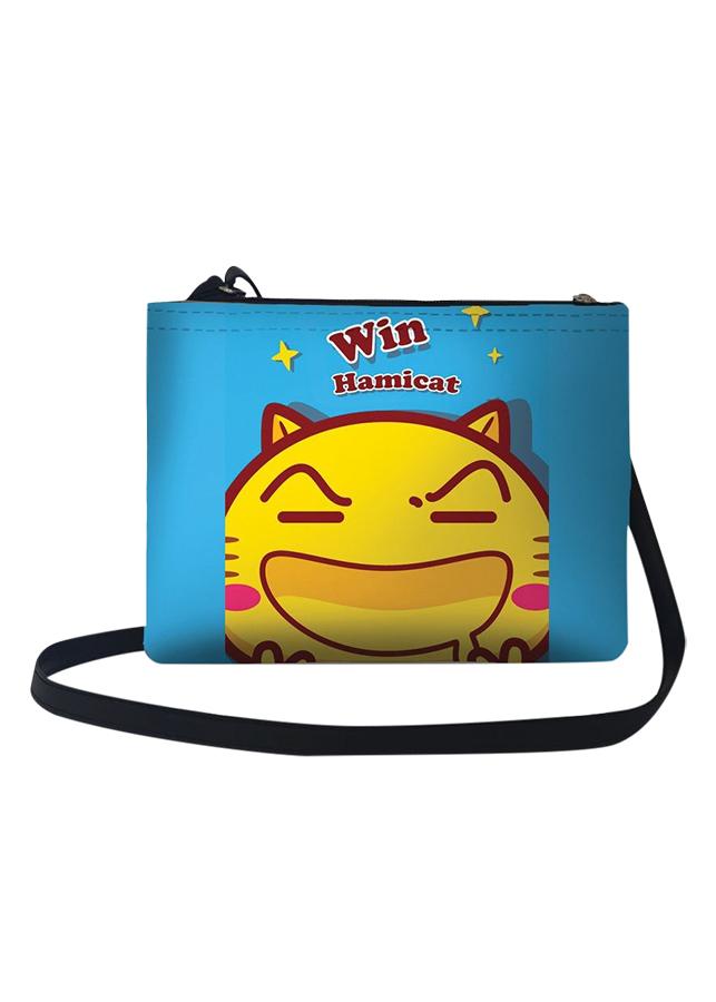 Túi Đeo Chéo Nữ In Hình Mèo Hamicat Win - TUCT096 (24 x 17 cm)