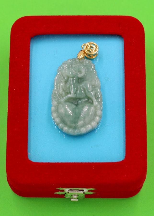 Mặt dây chuyền - khắc hình tuổi Mùi - đá cẩm thạch MCGCTX4 - kèm hộp nhung - linh vật tuổi Mùi