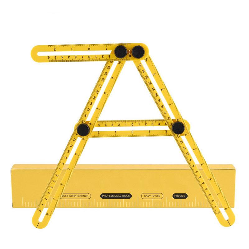 Multi Purpose Folding Ruler Measuring Tools Multi-Angle Four Sides Variety Shape