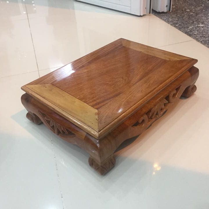 Bàn osin gỗ hương, kích thước 35 x 50 x cao 12,5cm, thích hợp nối dài bàn thờ thần tài thổ địa, làm bàn trà hoặc...