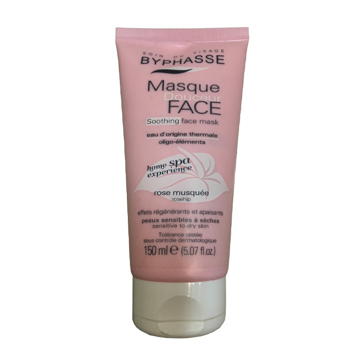 Tẩy tế bào da mặt Byphasse Rosehip Masque 150ml dùng cho mọi loại da