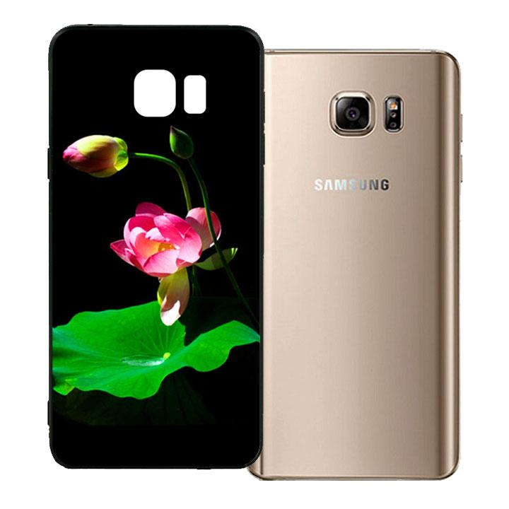 Ốp lưng viền TPU cho Samsung Galaxy Note 5 - Lotus 01