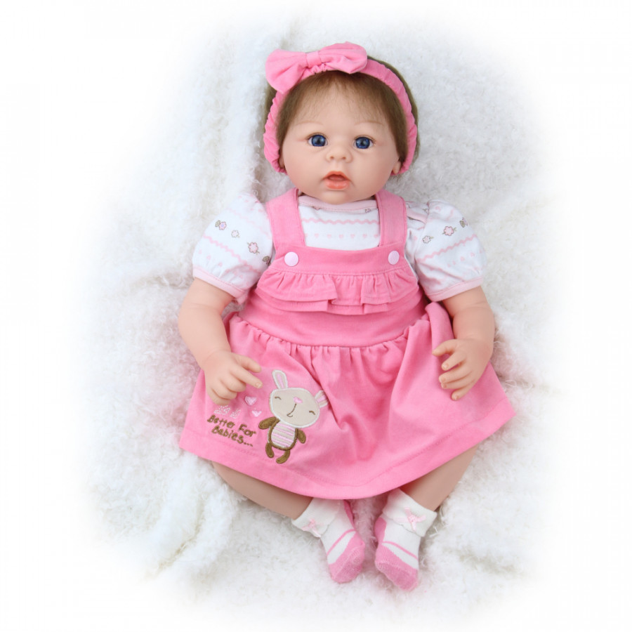 22inch 55cm Reborn Baby Doll Girl PP filling Silicone With Clothes Feeding Bottle Lifelike Cute Gifts Toy Pink Rabbit - 1860872 , 7336705178205 , 62_14099095 , 1688000 , 22inch-55cm-Reborn-Baby-Doll-Girl-PP-filling-Silicone-With-Clothes-Feeding-Bottle-Lifelike-Cute-Gifts-Toy-Pink-Rabbit-62_14099095 , tiki.vn , 22inch 55cm Reborn Baby Doll Girl PP filling Silicone With