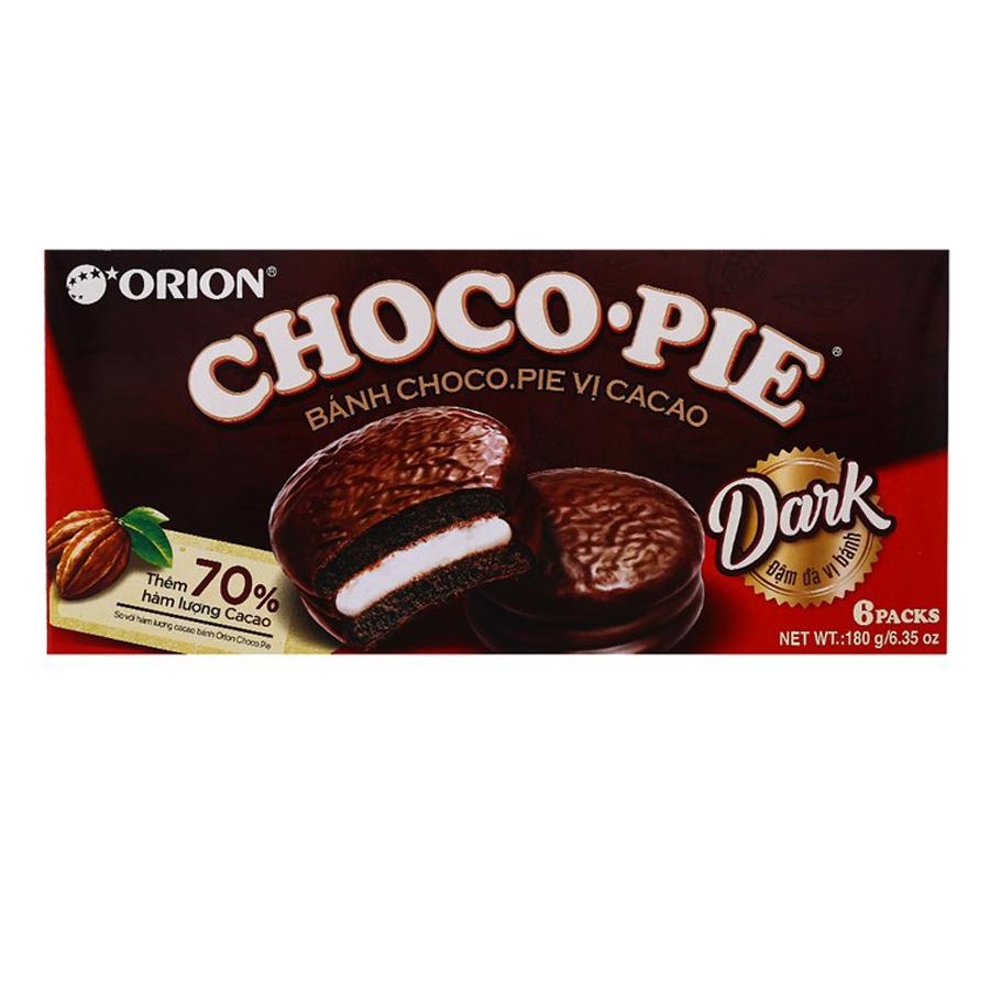 Bánh Orion Chocopie Dark vị Cacao hộp 180g (6 Cái) - 1056138 , 8936036025163 , 62_3492295 , 35000 , Banh-Orion-Chocopie-Dark-vi-Cacao-hop-180g-6-Cai-62_3492295 , tiki.vn , Bánh Orion Chocopie Dark vị Cacao hộp 180g (6 Cái)