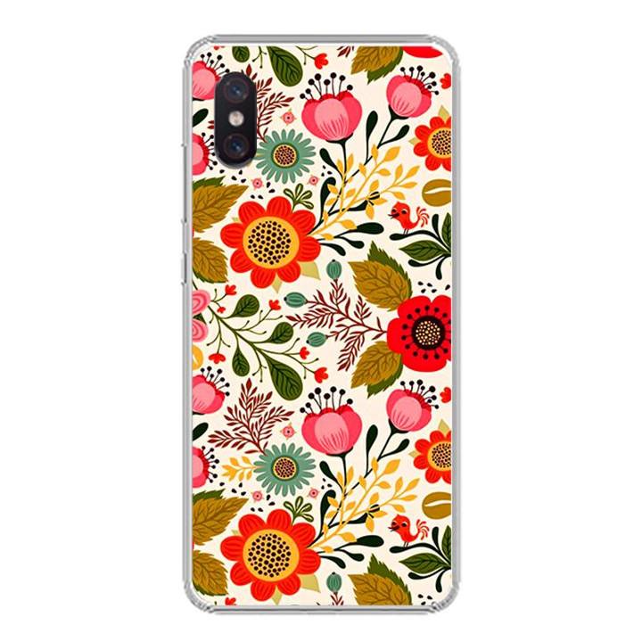 Ốp lưng cho Xiaomi Mi 8 Pro - 0172 FLOWER04 - Silicone dẻo - Hàng Chính Hãng