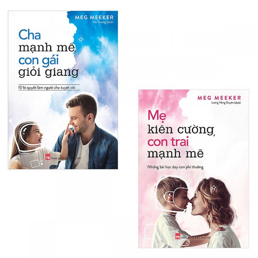 Combo Cha Mạnh Mẽ, Con Gái Giỏi Giang + Mẹ Kiên Cường, Con Trai Mạnh Mẽ  - Tặng kèm Bookmark PĐ