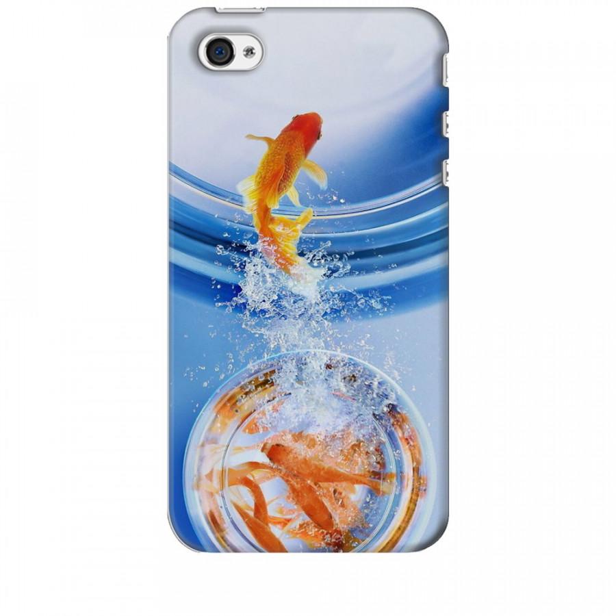 Ốp lưng dành cho điện thoại IPHONE 4 Cá Betta Vàng