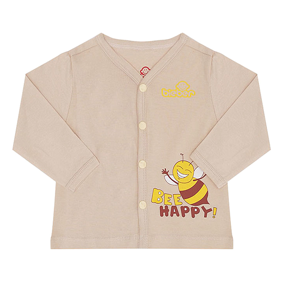 Áo Mở Khuy Ong Happy Bieber BI0290 (Be)