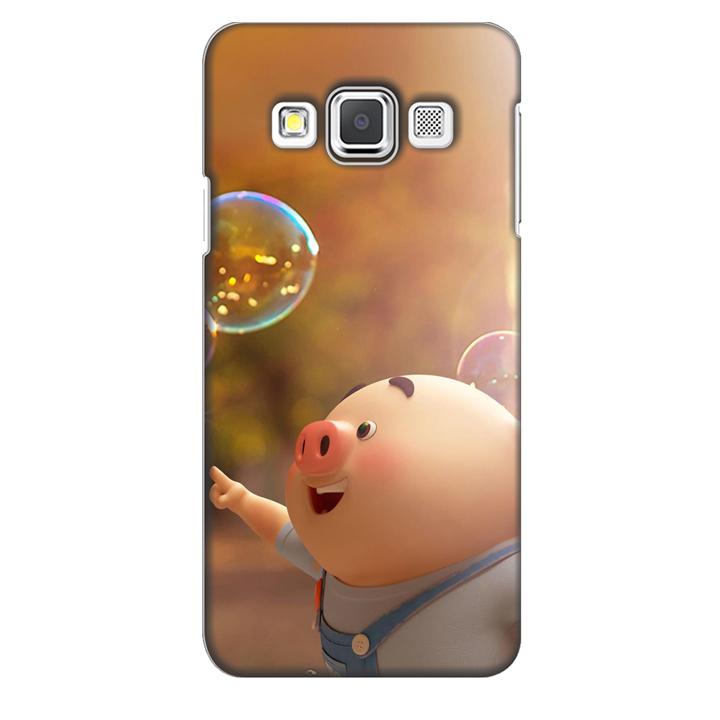 Ốp lưng nhựa cứng nhám dành cho Samsung Galaxy A3 in hình Heo Con Bóng Nước