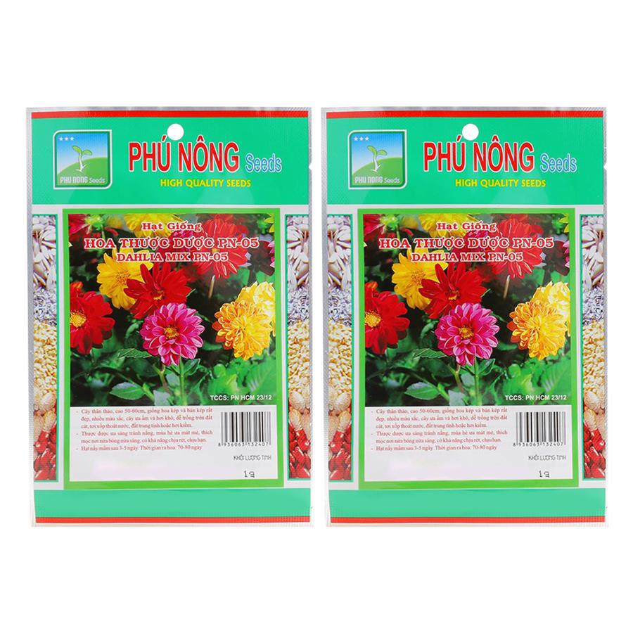 Bộ 2 Gói Hạt Giống Hoa Thược Dược Phú Nông (1g / Gói)