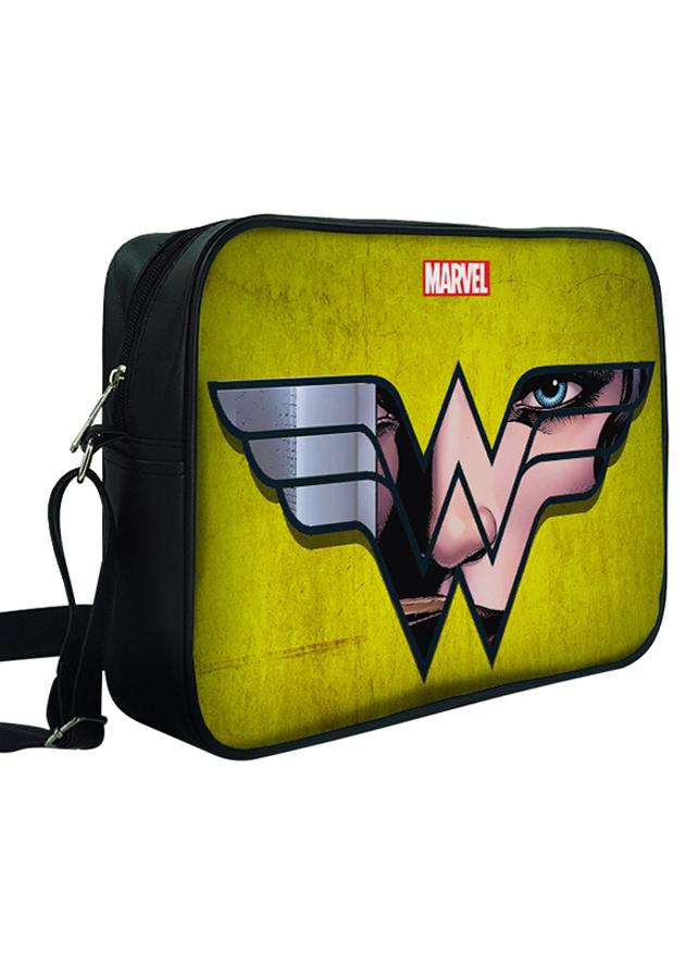Túi Đeo Chéo Hộp Unisex In Hình Logo Wonder Woman - TCFF306