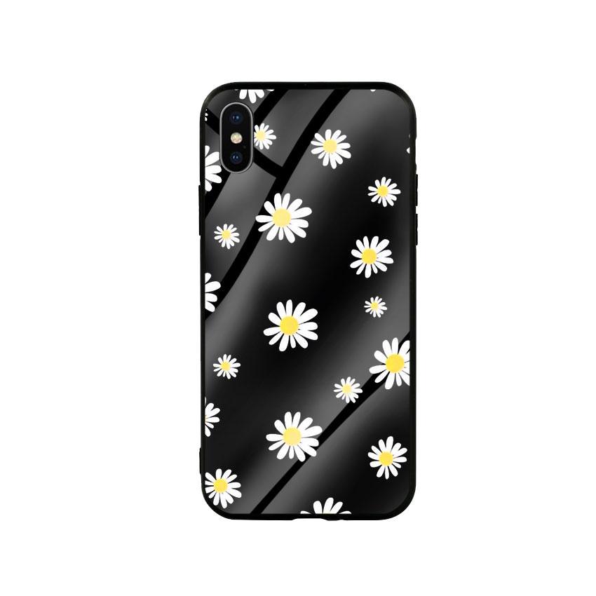 Ốp Lưng Kính Cường Lực cho điện thoại Iphone X / Xs - Cúc Họa Mi 01 - Hàng Chính Hãng
