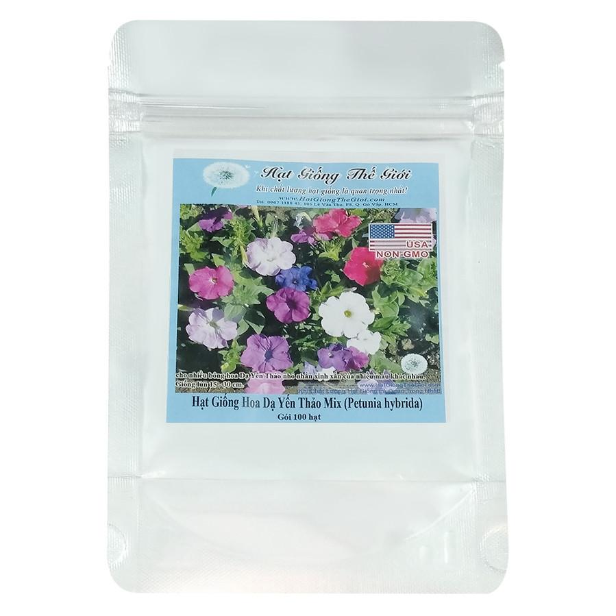 Hạt Giống Hoa Dạ Yến Thảo Mix Nhiều Màu - Petunia hybrida (100 Hạt)