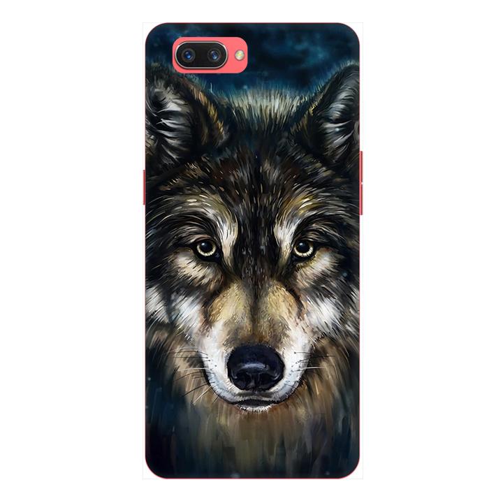 Ốp lưng điện thoại Realme C1 hình Chó Sói Mẫu 2