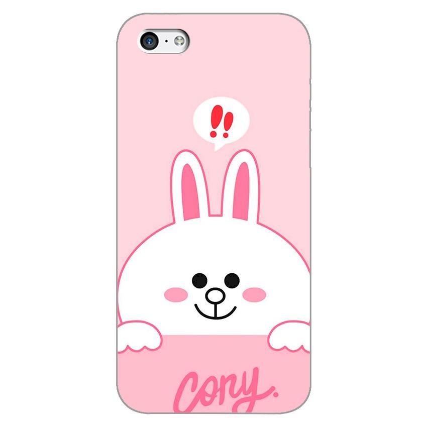 Ốp lưng dẻo cho Apple iPhone 5c _Thỏ Cony