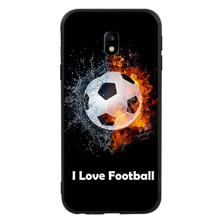 Ốp lưng viền TPU cao cấp cho Samsung Galaxy J3 Pro 2017 - I Love Football