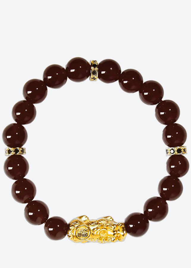 Vòng tay đá Garnet charm tỳ hưu bọc vàng 24k Ngọc Quý Gemstones - 6106049 , 5456212685309 , 62_8443168 , 1090000 , Vong-tay-da-Garnet-charm-ty-huu-boc-vang-24k-Ngoc-Quy-Gemstones-62_8443168 , tiki.vn , Vòng tay đá Garnet charm tỳ hưu bọc vàng 24k Ngọc Quý Gemstones