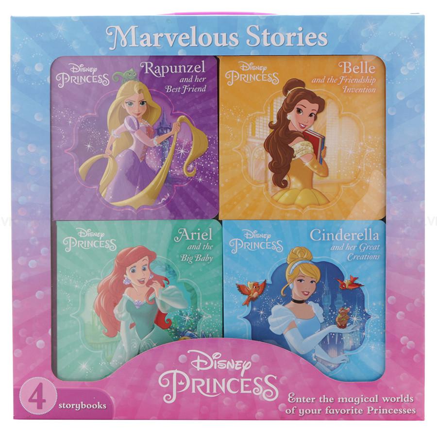 Disney Princess - 4 Board Books In A Box