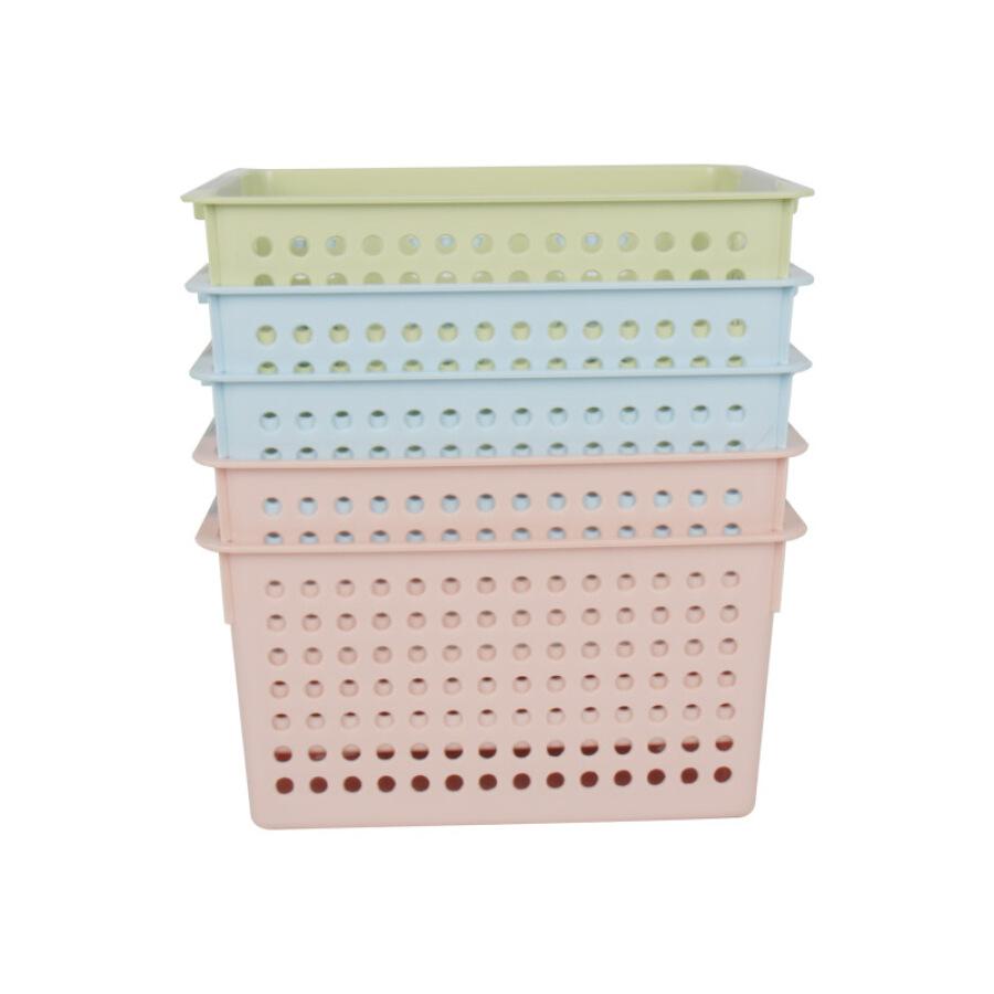 EDO kitchen storage basket plastic basket 5 Pack rectangular storage basket desktop snacks bathroom storage box storage storage basket TH1288