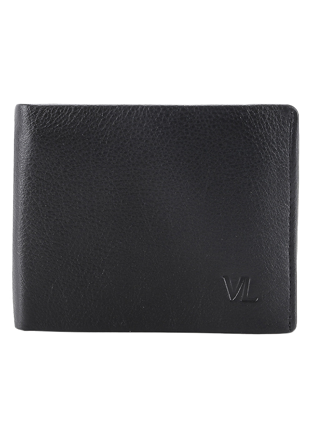 Ví Da Nam VL Leather VL0031 (12 x 10 cm) - Đen