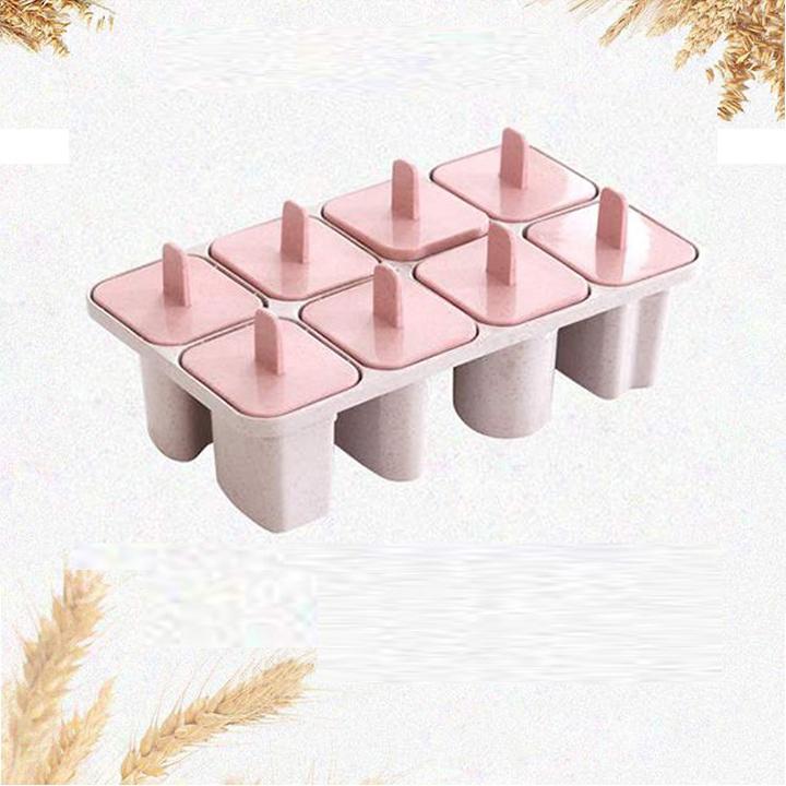 Khuôn làm kem lúa mạch 8 ngăn - Màu ngẫu nhiên