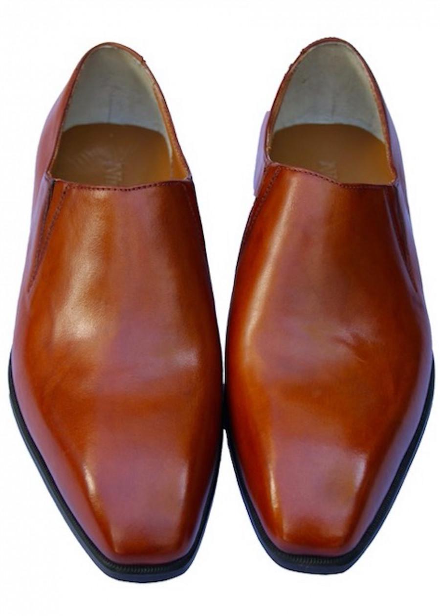 Giày lười tây nam da bò ý nhập đế da màu bò GMN8594
