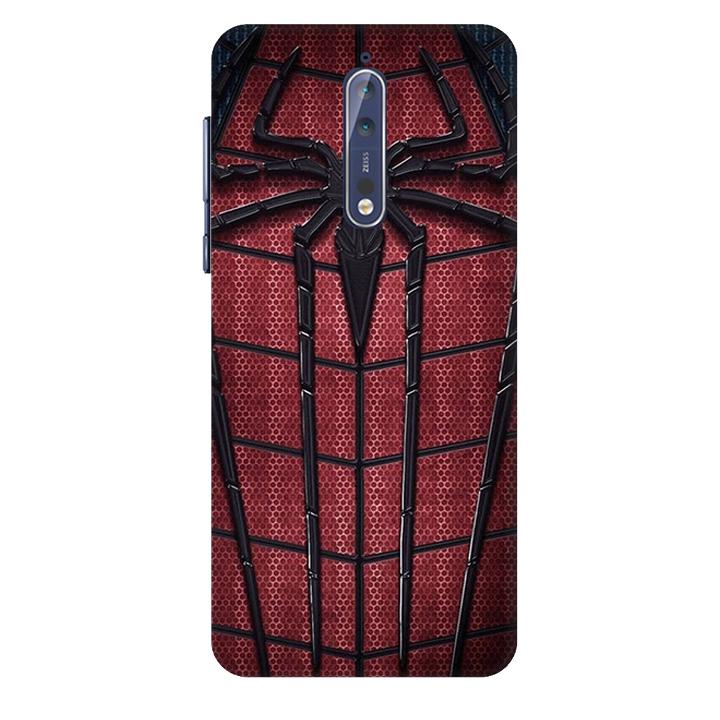 Ốp lưng nhựa cứng nhám dành cho Nokia 8 in hình Siêu Anh Hùng