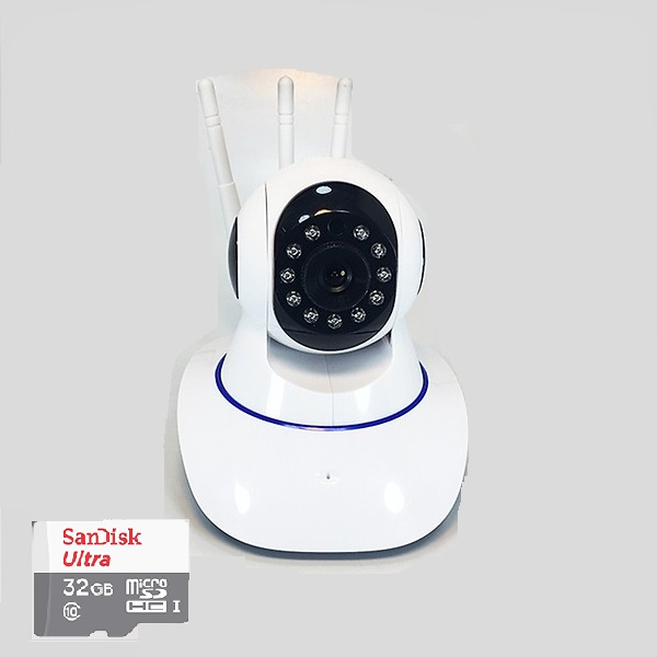 Camera wifi YooSee 3 râu 11 led HD-720P NN311 tặng thẻ nhớ 32G