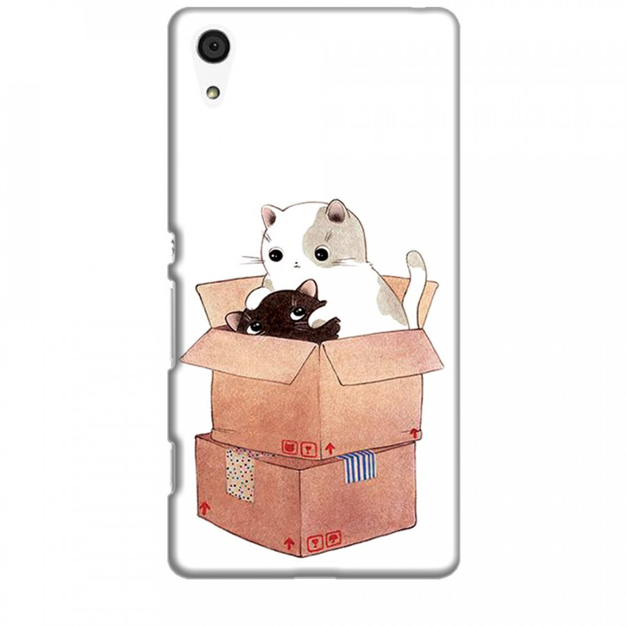 Ốp lưng dành cho điện thoại SONY Z4 Mèo Con Dễ Thương