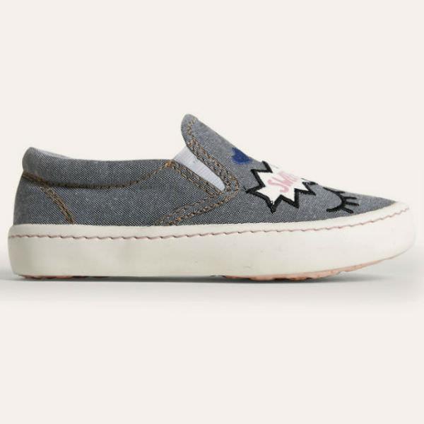 Giày Slip On Bé Gái DA BG1602 - Ghi