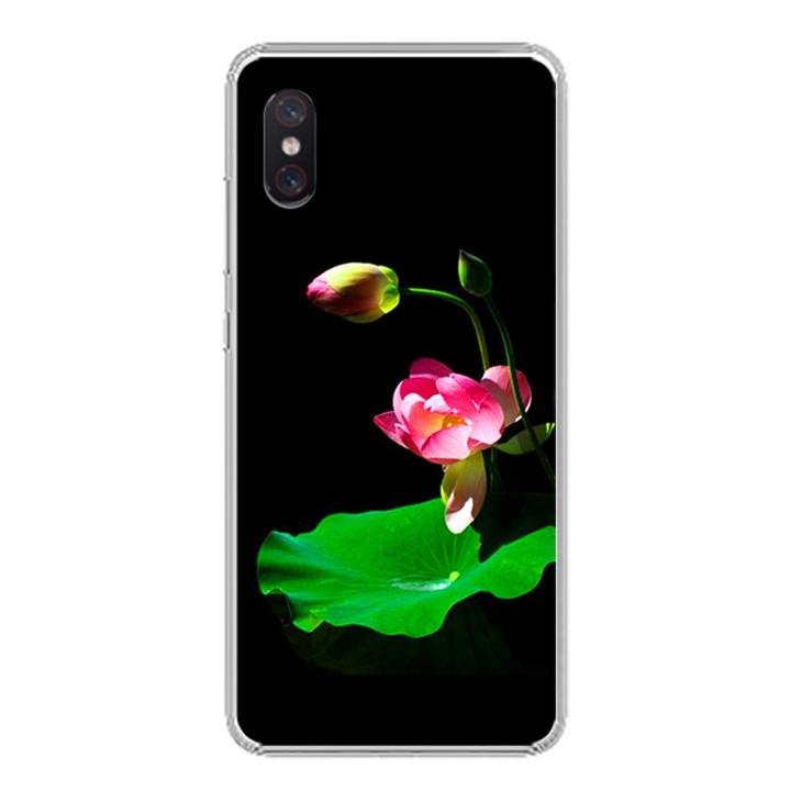 Ốp lưng cho Xiaomi Mi 8 Pro - 0221 LOTUS01 - Silicone dẻo - Hàng Chính Hãng