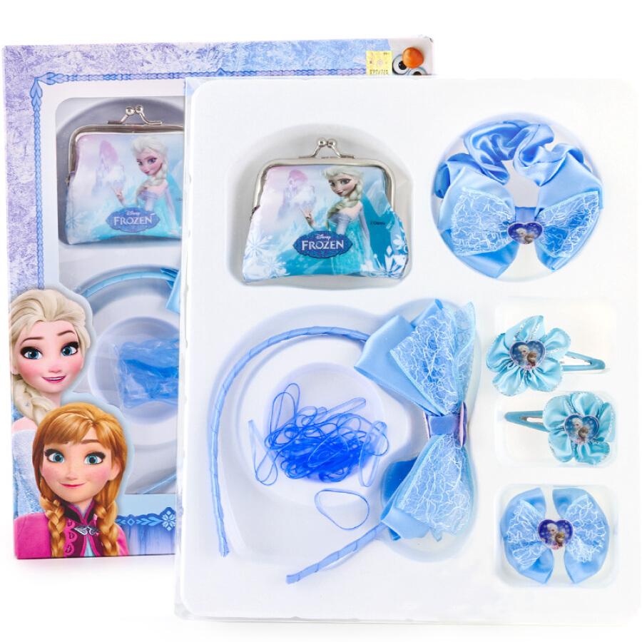 Disney Disney Children's Hairpin Girl Necklace Set Princess Card Hairpin Little Girl Hairband Head Jewelry 1S007 Sophia Pink