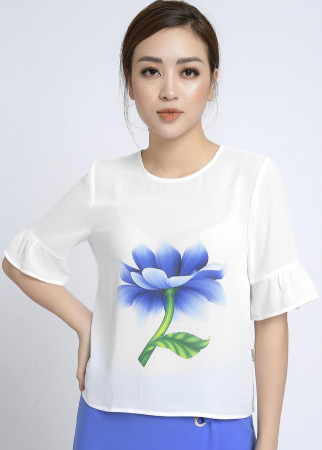 Áo kiểu nữ tay chuông LAMER L61B18H091-S1500 (Trắng)