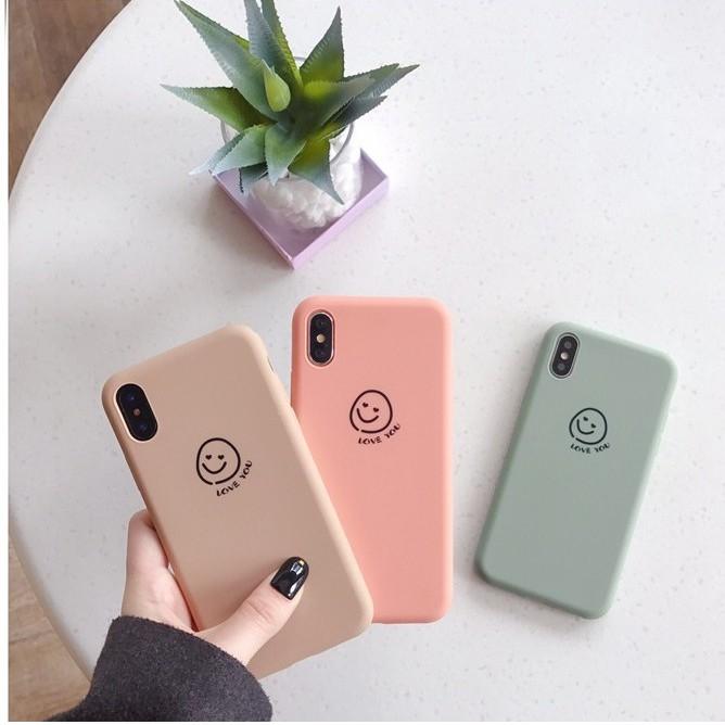 Ốp Pastel Mặt Cười Love You Dành Cho Iphone